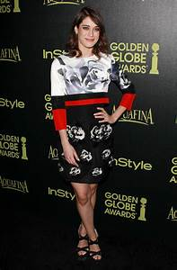 Lizzy Caplan - HFPA & InStyle Celebrate 2015 Golden Globe ...