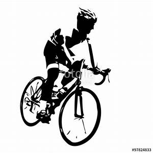 """Cyclist silhouette. Bicycle racing"" Stock image and ..."