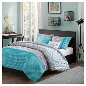 Teal, Blue, Gray, Sarah, Comforter, Set, King, California, King, 5pc