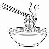 Noodles Chopsticks Boek Outlined 30seconds Geschetste Soupe Baguettes Esquissé Noedel Nouilles Soep Eetstokjes Growl Crosse Papy sketch template