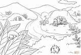 Coloring Cave Saul Samuel Treasure Bijbel Caves Afbeelding Hide Template Openclipart Sketch sketch template