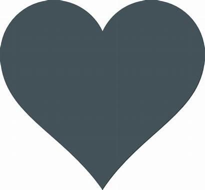 Heart Grey Clip Clipart Cliparts Clker Vector