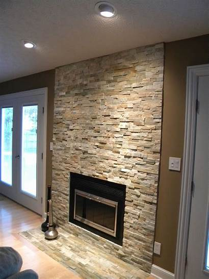 Fireplace Stone Veneer Modern Stacked Fireplaces Interior