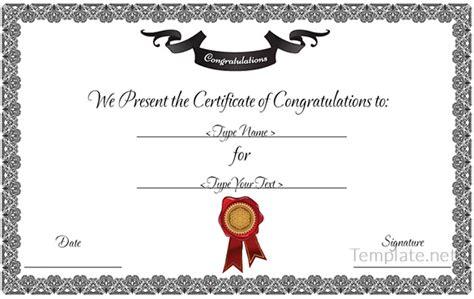 congratulations certificate templates free certificate template 65 adobe illustrator