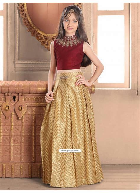 buy demure banglory silk blue indo western dress