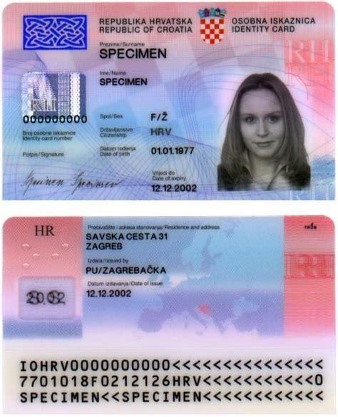 countries   travel    croatian id card