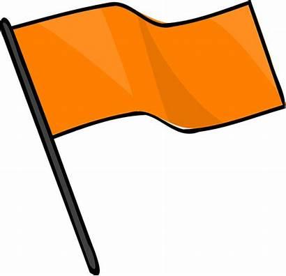 Flag Orange Clipart Golf Symbol Flagstick Wind