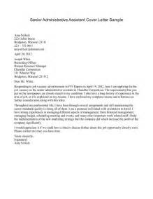 senior level resume cover letter 10 executive assistant cover letter exle writing resume sle