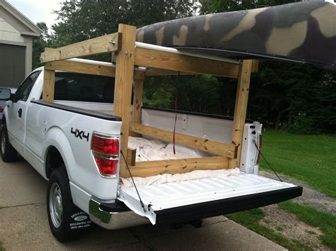 how to build a kayak rack for truck howdy ya dewit easy canoe kayak ladder and