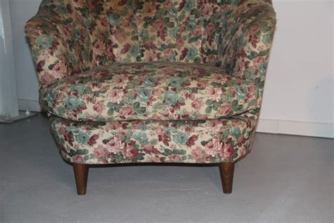 Italian Floral Armchairs, 1950, Set Of 2 For Sale At Pamono
