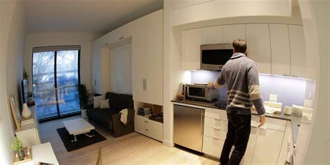 one car garage conversion to apartment carmel place leasing new york city s first micro apartments business insider