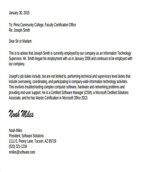 letter  job experience   resume land