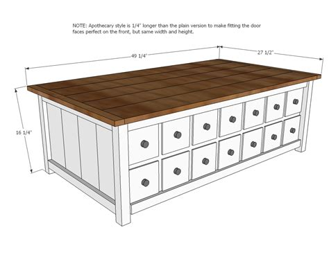 apothecary coffee table  toybox woodworking plans