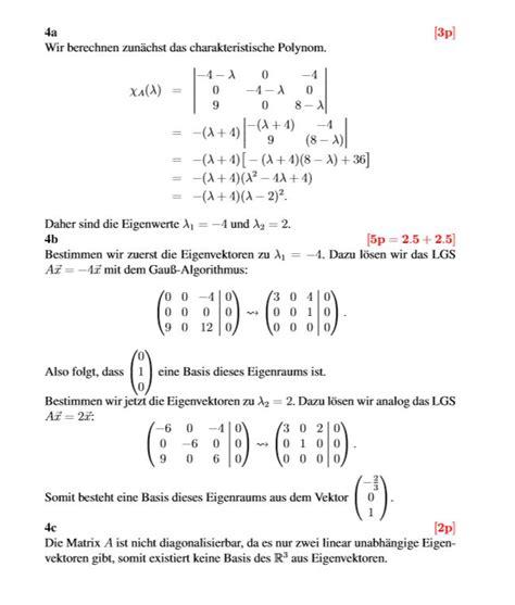 eigenwert einer matrix berechnen mathe  eigenwerte