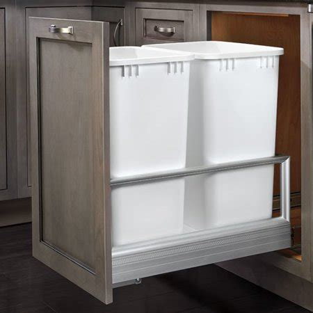 pull out walmart rev a shelf 14 19 pull out trash can walmart