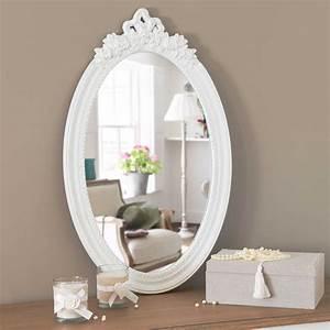 Miroir Baroque Maison Du Monde : miroir en bois blanc h 65 cm romane maison du monde chambre deco pinterest miroir en bois ~ Melissatoandfro.com Idées de Décoration