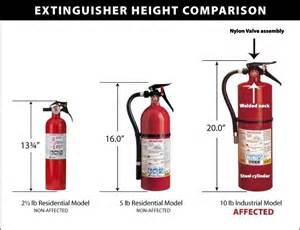 Extinguisher Box Mounting Height by Cpsc Kidde Announce Recall Of Industrial