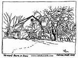 Coloring Farm Winter Adult Printable Scenery Adults Animal Project Scenes Yahoo Nature Landscape Scene Barn Forest Viatico Colouring sketch template