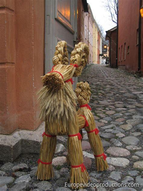 traditional finnish christmas decoration yule goat