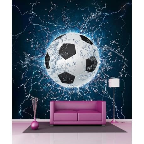 papier peint g 233 ant ballon de foot 11085 11085 ebay