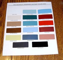 interior paint colors to sell your home 1955 chevy paint chip chart all original colors ebay