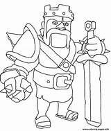 Clash Coloring Pages Royale Clans Printable Getcolorings Print sketch template