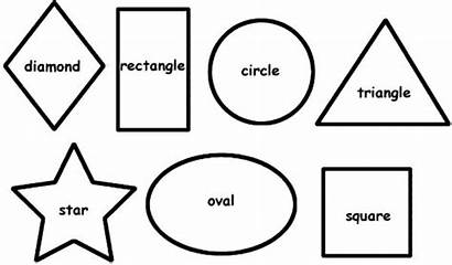 Shapes Coloring Basic Drawing Shape Pages Sheets