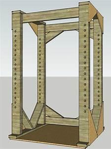 wood - Load bearing capacity of 2x6's for diy lifting cage