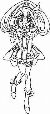 Glitter Force Coloring Peace Cure Popular Wecoloringpage sketch template