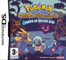 juegos consola pokemon mundo misterioso equipo rescate azul ds