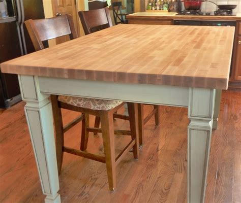 how to build a kitchen island table made butcher block kitchen table by custom