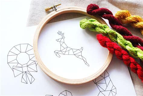 christmas geometric embroidery patterns