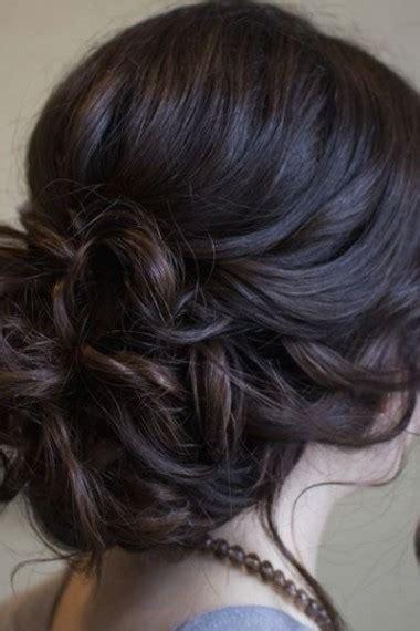 coiffure chignon bas flou