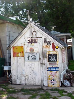 wooden shed  character decorate   shed
