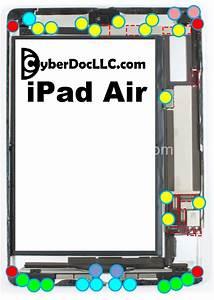 Ipad Air Screw Chart Mat Magnetic Repair Tool Screwphilic