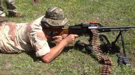 Pkm Light Machine Gun On Tripod