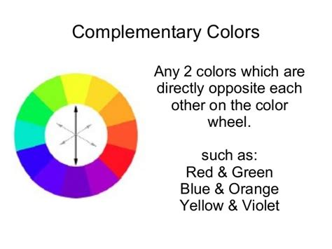 complementary color definition color presentation intro to