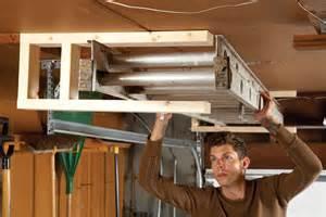 Ceiling Mount Fishing Rod Holders by Sneak Peek Ingenious Garage Storage Ideas The Family