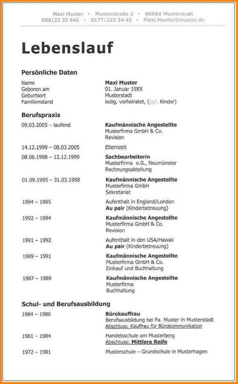 Der Perfekte Lebenslauf Muster by 14 Beispiel Der Perfekte Lebenslauf Muster F 252 R Jede Stelle