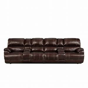 4 seat leather reclining sofa thesofa With sectional sofa with reclining seats