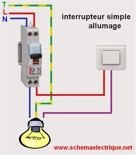 installer un interrupteur sur une le sch 233 ma 233 lectrique interrupteur simple allumage branchement et c 226 blage interrupteur simple