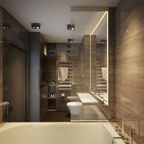 Design Bathrooms by Apartment Ernst In Kiev Inspired By Posh Hotel Ambiance
