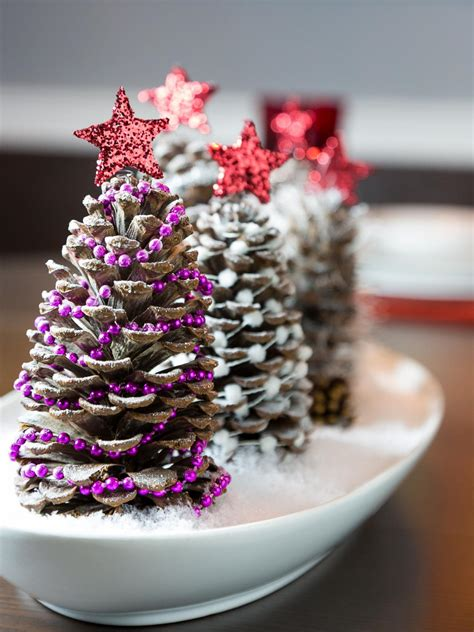 Pinecone Christmas Tree Craft Candy Cane Trees Ornament