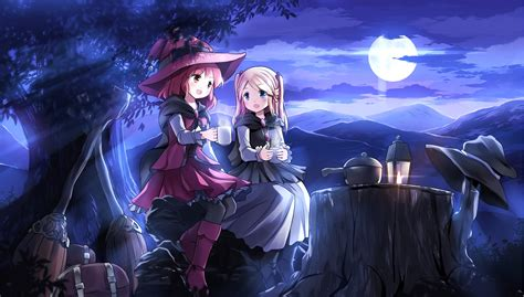 Anime Witch Wallpaper - anime hd wallpaper background image 2205x1254