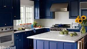 Kitchen Colors With Dark Blue Furniture - Home Combo
