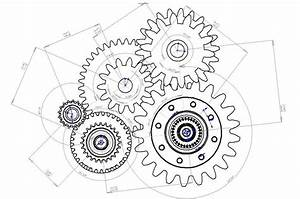 Clock Gears Drawing At Getdrawings Com
