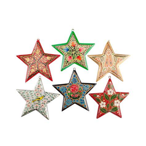 christmas stars decorations kerala decoration set painted design