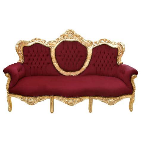 canapé velours bordeaux canapé baroque tissu velours bordeaux et bois doré