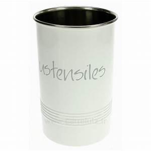 Pot A Ustensile : pot ustensiles rond blanc la cuisine porte ustensiles cl50150770 ~ Teatrodelosmanantiales.com Idées de Décoration