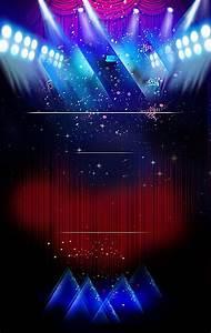black, stage, star, poster